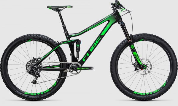 Cube Stereo 140 C:62 SL 27.5 carbon´n´green 2017 - 27,5 -